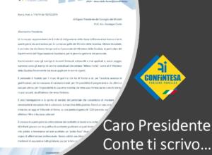 Lettera al Presidente del Consiglio dei Ministri, Giuseppe Conte