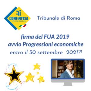 <strong>FUA 2019 E PROGRESSIONI ECONOMICHE</strong>